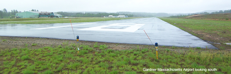 Gardner Massachusetts Airport looking south
