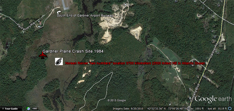 Google Earth location of plane crash. Click to download Google Earth.