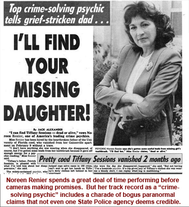 Noreen, Renier, Missing Persons, Missing Children, Psychic, Detective